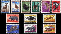 Congo 0350/61* Animaux Protégés - 1947-60: Mint/hinged