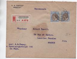 1922 - ENVELOPPE De 'S GRAVENHAGE Pour LONS LE SAUNIER (JURA) - Poststempel
