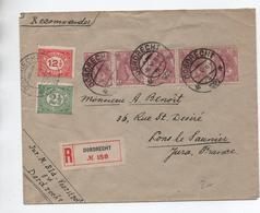 1922 - ENVELOPPE De DODRECHT Pour LONS LE SAUNIER (JURA) Avec BANDE X5 - Poststempel