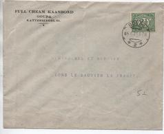 1921 - ENVELOPPE De GOUDA Pour LONS LE SAUNIER (JURA) - Poststempel