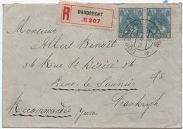 1921 - ENVELOPPE De DODRECHT Pour LONS LE SAUNIER (JURA) - Poststempel