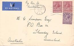 GROSSBRITANNIEN - AIR MAIL 1935 CAMBERWILL -> THURSDAY ISLAND/AUSTRALIA //ak245 - Entiers Postaux