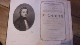 VERS 1860 FREDERIC CHOPIN MARMONTEL 1EME VOLUME MAZURKAS VALSES BOLERO TARENTELLE - Partituras