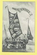 * Knokke - Knocke (Kust - Littoral) * (J.N. Déposé 1905) Souvenir De Knocke, Voilier, Bateau, Plage, Beach, Animée, TOP - Knokke