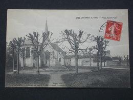 Ref6022 CPA De Jouarre - Place Saint Paul - Gaget édit. N°7044 - Photog. Brindelet - 1912 - France