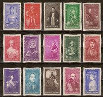 "(Fb).Monaco.1942.""Principi E Principesse"".Serie Completa,15 Val Nuovi,MNH (29-20) - Neufs"