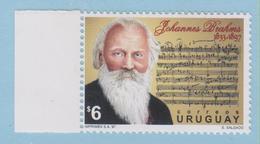 J.P.S. 5 - Timbre - Musique - Compositeur - N° 51 - Uruguay - Brahms -  N° Yvert N° 1663 - Musique