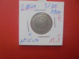 DEUTSCHES REICH 25 PFENNIG 1910 G (A.10) - 25 Pfennig