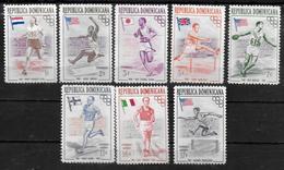 DOMINICAINE  N° 444/48  PA 101/03 * * ( Cote 6.25e )  Jo 1958 Course Relais Haies Saut En Longueur Marche - Sommer 1956: Melbourne