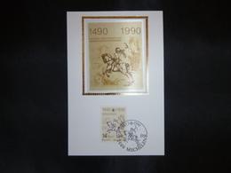"BELG.1990 2350 Mcard Fdc Zijde/soie (Mechelen)  : "" Postverbinding Innsbruck-Malines Liason Postale 1490-1990 "" - FDC"