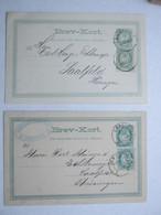 1886/87 ,  2    Postkarten  Nach Deutschland - Briefe U. Dokumente