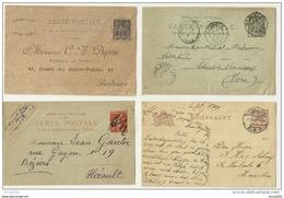 Lot De 10 Entiers France Et Etranger, Voir Les Scans En Détail. - 5 - 99 Postkaarten