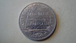 MONNAIE POLYNESIE FRANCAISE 5 FRANCS 2002 - Polynésie Française