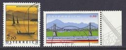 Austria / Osterreich - 2003 Lake Worthersee, Salzachbrucke Oberndorf - Laufen, Bridge, Pont, Lac, Used - 1945-.... 2ème République