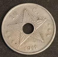 CONGO BELGE - 10 CENTIMES 1911 - KM 18 - Albert I - Congo (Belge) & Ruanda-Urundi