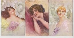 CPA- Thème Illustrateurs- Femmes- Lot De 3 CPA- - Altre Illustrazioni