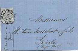 SH 0481. N° 39 GAND (STATION) 10 SEPT 1885 S/LAC V. Goirle (P-B) Au Tarif Préférentiel (20c). TB - 1883 Léopold II