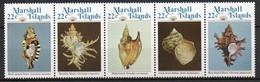 Iles Marshall - 1985 - Yvert N° 73 à 77 **  - Coquillages - Marshall