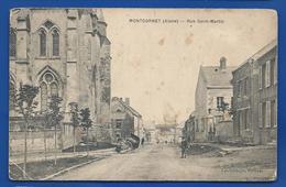 MONTCORNET   Rue Saint-Martin    Animées   écrite En 1906 - Frankreich