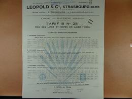 Léopold & Cie Strasbourg Usine De Saverne Prix Des Limes Et Rapes En Papier Fondu - Old Paper