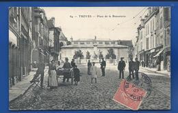 TROYES   Place De La Bonneteie   Marchand Ambulant       Animées      écrite En 1907 - Troyes