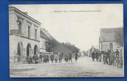 BENAIS   Place De La Mairie        Animées  écrite En 1917 - Frankreich