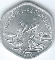 India - 20 Paise - 1983 - KM46 - FAO - Fisheries - Calcutta Mint - UNC - India