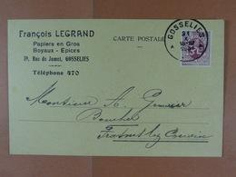 François Legrand Papiers En Gros Boyaux Epices 1931 - Ganzsachen