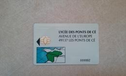 ANCIENNE CARTE A PUCE SOLAIC DE LYCEE DES PONTS DE CE BON ETAT !!! - France