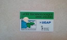 ANCIENNE CARTE A PUCE SOLAIC DE LYCEE ANGERS BON ETAT !!! - France