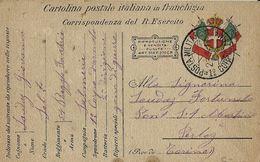 FRANCHIGIA POSTA MILITARE 1 CORPO ARMATA 1917 AURONZO X PERLOZ - 1900-44 Victor Emmanuel III.