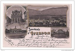 9643 - Souvenir D'Yverdon Litho Circulée 1900 - VD Vaud