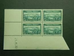 Maroc Poste Aérienne Yvert PA 39 Coin Daté 21.11.32 - Aéreo