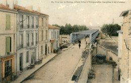ARLES PONT SUR RHONE RELIANT ARLES A TRINQUETAILLE VUE PRISE A VOL D'OISEAU - Arles