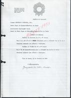 PORTUGAL DOCUMENT SUR EN TETE TAMPON IMPOSTO DO SELO FAIT À VILA DO CONDE 1986 : - Portugal