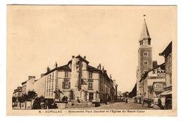 15 CANTAL - AURILLAC Monument Paul Doumer Et L'Eglise Du Sacré-Coeur (voir Descriptif) - Aurillac