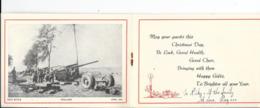Holland - INTO BATTLE - Canon - Carnet Voeux Royal Régiment Artillerie - April 1945 - 3 Scans. - Matériel