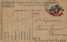 FRANCHIGIA POSTA MILITARE 6 CORPO ARMATA 1917 CAPRIVA X GENOVA - 1900-44 Victor Emmanuel III.