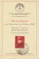 Deutsches Reich 772 Auf Gedenkblatt Sonderstempel Hamburg - Deutschland