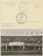 Deutsches Reich Olympia-Karte Unfrankiert Mit Sonderstempel - Deutschland