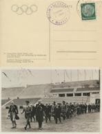Deutsches Reich 516 Olympia-Karte Sonderstempel - Deutschland