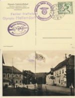 Deutsches Reich 611 Auf  Olympia-Karte Sonderstempel Olympia-Staffellauf - Deutschland
