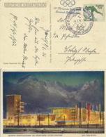 Deutsches Reich 600 Auf Farbiger Olympia-Karte Sonderstempel Garmisch-Partenkirchen - Deutschland