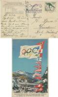 Deutsches Reich 600 Auf Farbiger Olympia-Karte Werbestempel Winterspiele - Deutschland