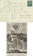 Deutsches Reich 516 Auf Olympia-Karte Werbestempel Winterspiele - Deutschland
