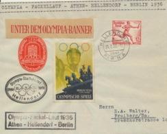Deutsches Reich 613 Auf Brief Olympia-Fackellauf - Allemagne