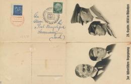Deutsches Reich 516 Auf Doppelkarte Sonderstempel München - Deutschland
