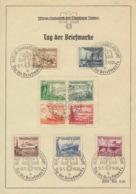 Deutsches Reich 651/59 Auf Sonderblatt Sonderstempel Berlin Fahrbares Postamt - Deutschland