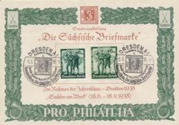 Deutsches Reich 662/63 Auf Sonderblatt Sonderstempel Dresden Geklebter Riss - Deutschland