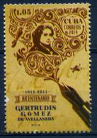 Cuba 2014 / Gertrudis Gomez De Avellaneda, Tula, Cuban Writer MNH Escritora / Cu1611  5-3 - Nuevos